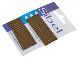 Невидимки гладкие Sibel коричневые, 70 мм, 24 шт.