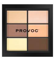 Палетка Provoc для коррекции лица, кремовая текстура, medium light, CCC4